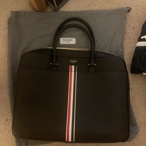 Thom Browne leather briefcase OS